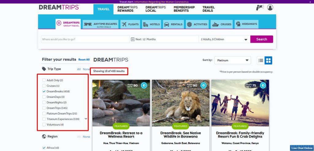 World Ventures Dream Break