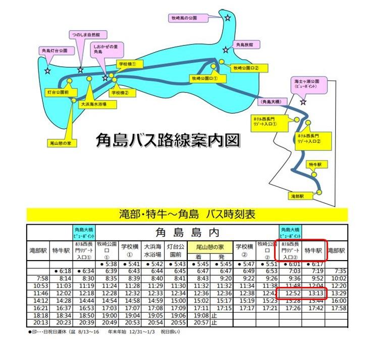 角島路線バス図
