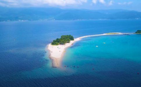 水島上空の写真