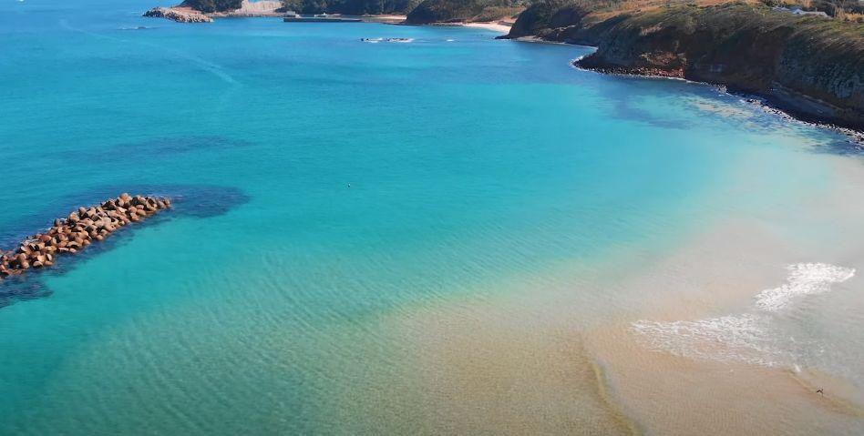 壱岐島の青い海