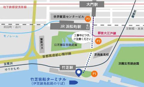 竹芝客船ターミナルの地図