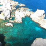 上空から見た式根島