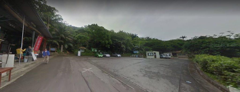 ヤエヤマヤシ群落前の駐車場