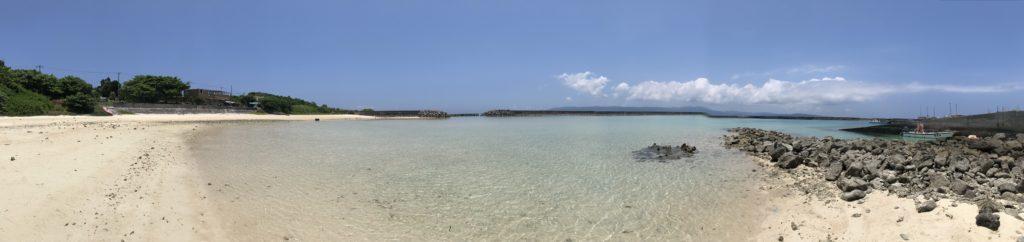前の浜の海