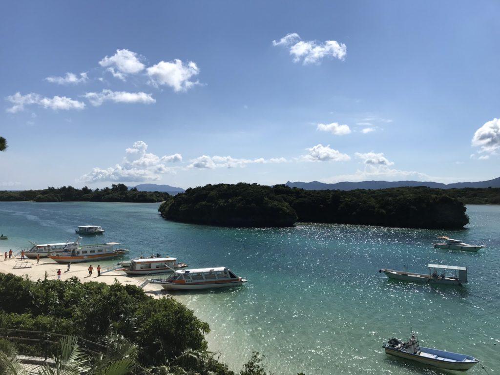 上から見た川平湾