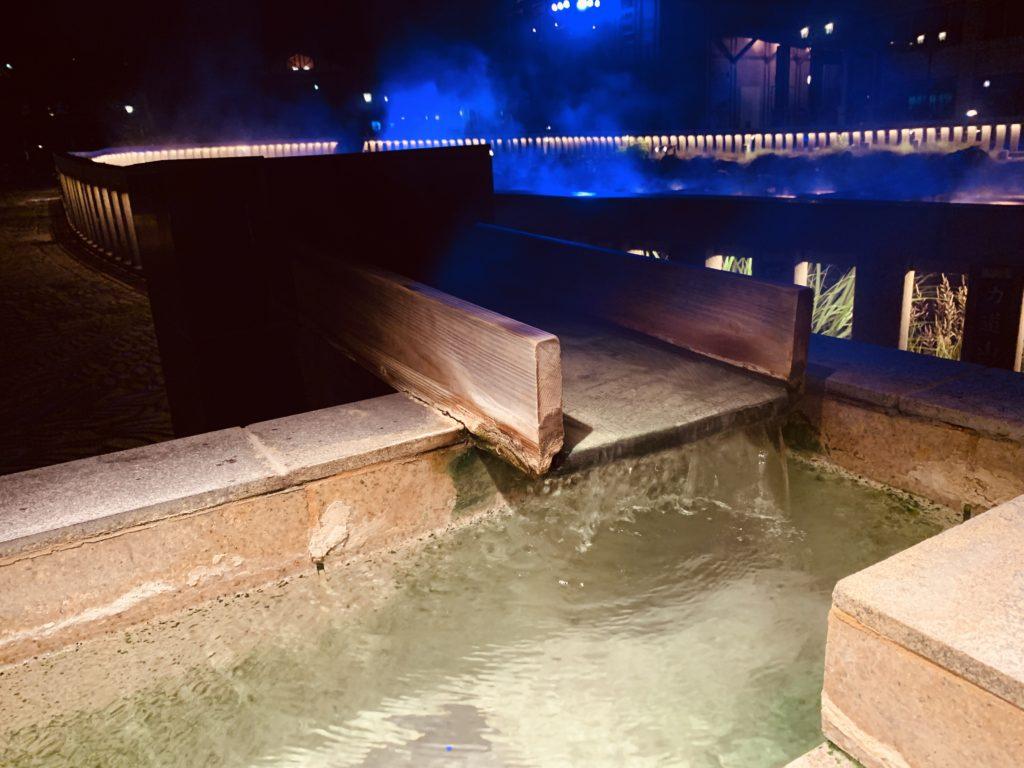 湯けむり亭の湯樋