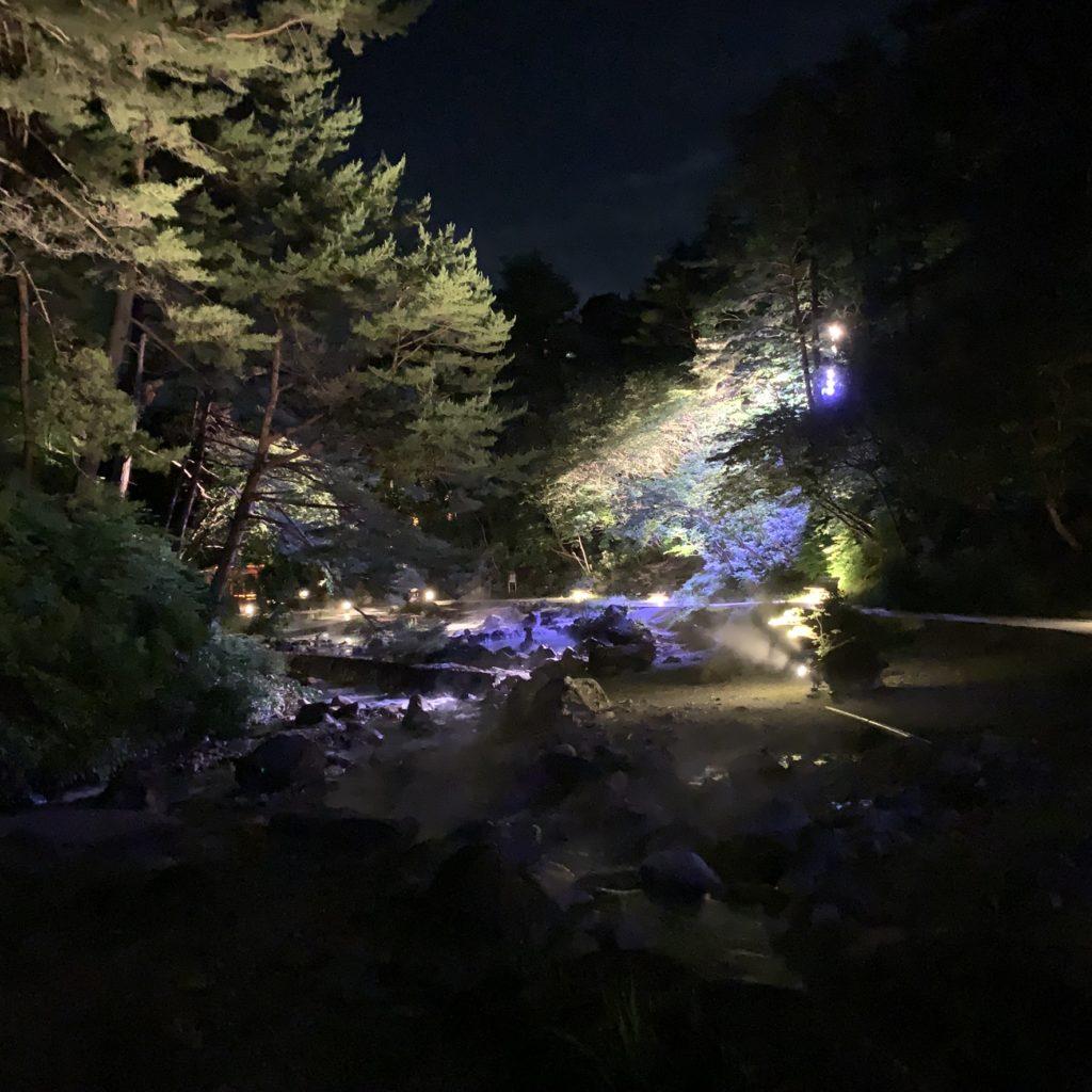 夜の西の河原公園