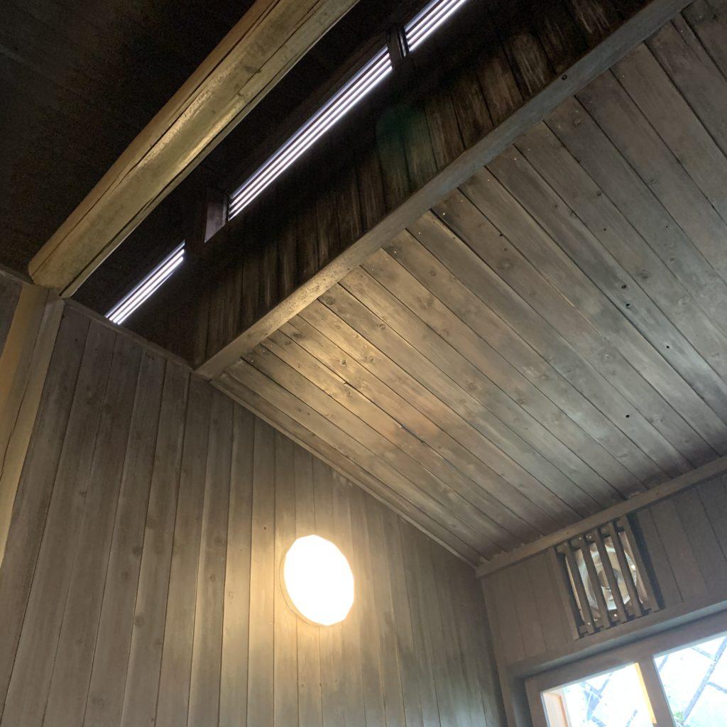 弁天の湯の天井