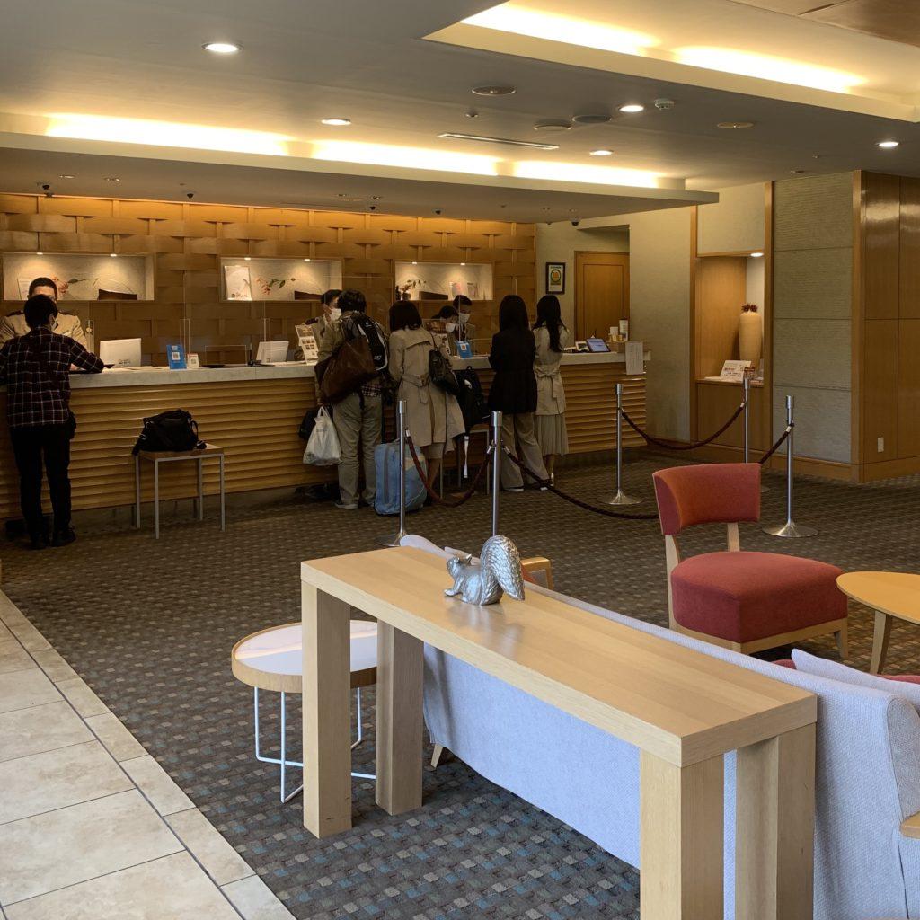 草津ナウリゾートホテルの受付