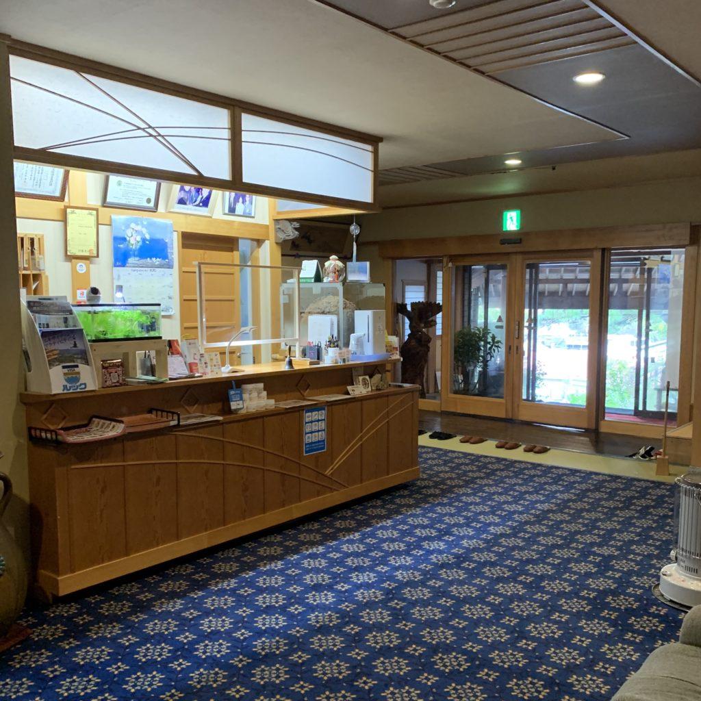 桐島屋旅館の受付(帳場)