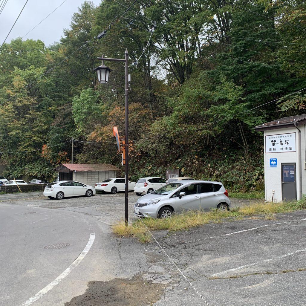 喜びの宿高松の駐車場
