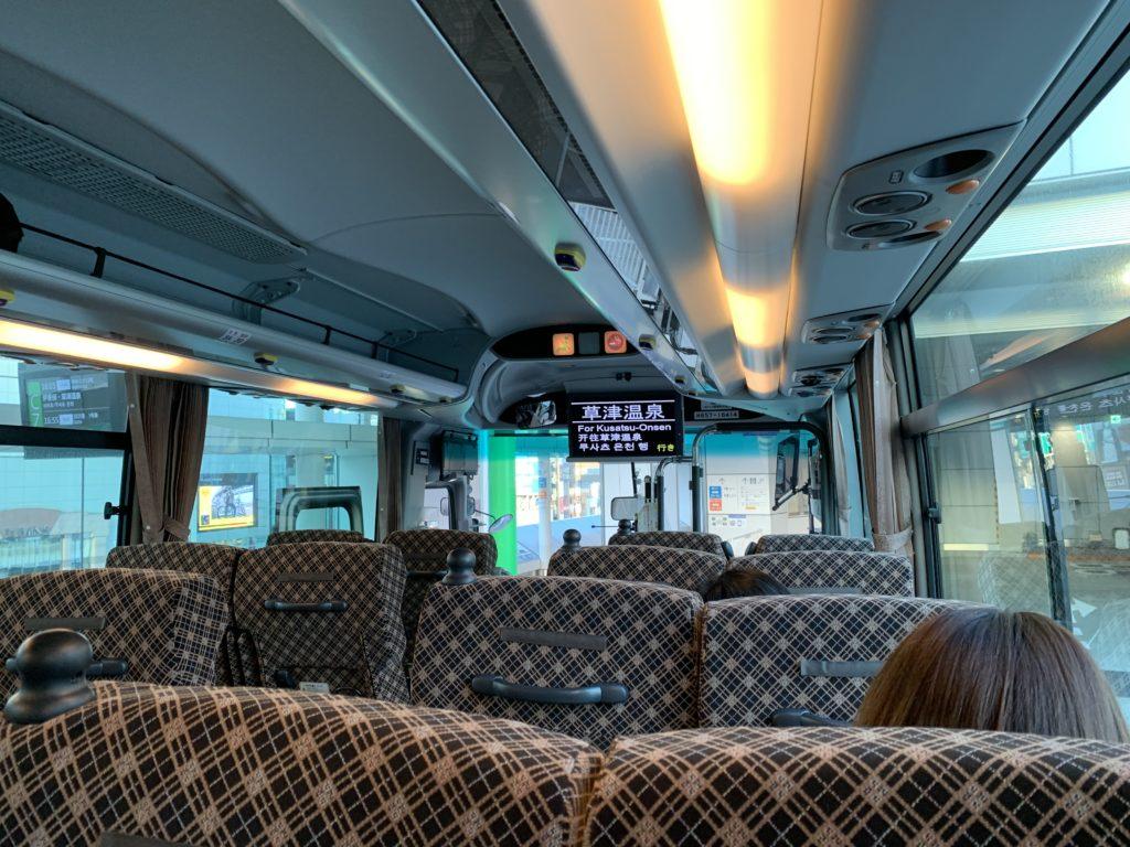 JR関東バスの高速バスの車内