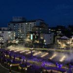 草津温泉湯畑のライトアップ