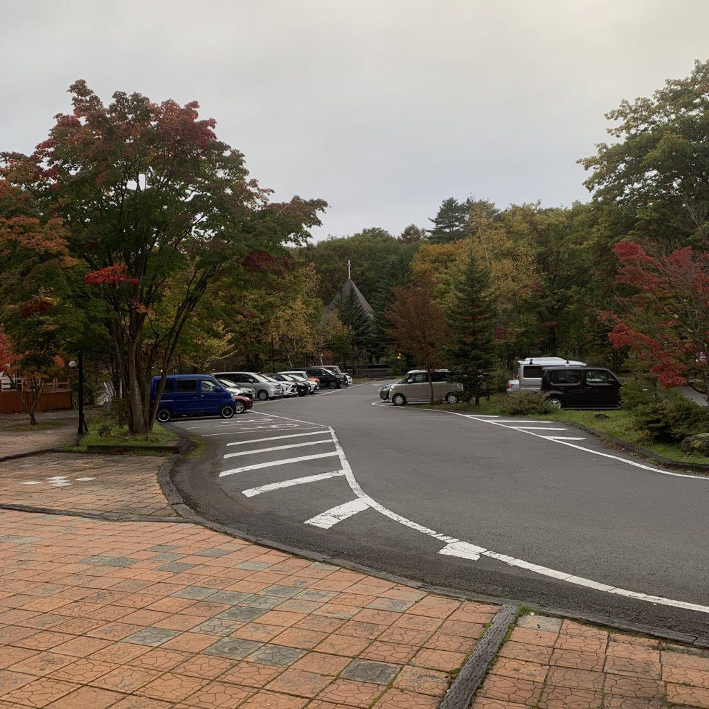 草津ナウリゾートホテルの駐車場