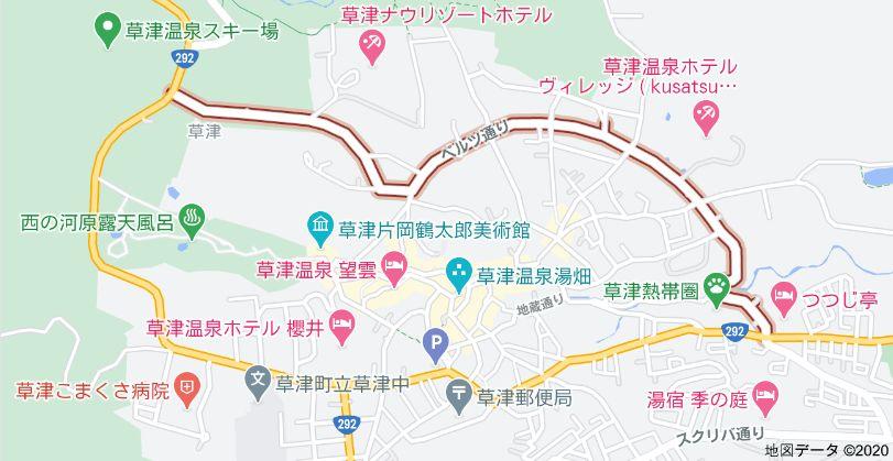Googleマップに表示されたベルツ通り