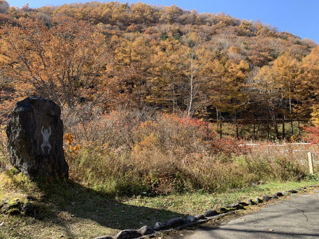 鬼の相撲場の紅葉