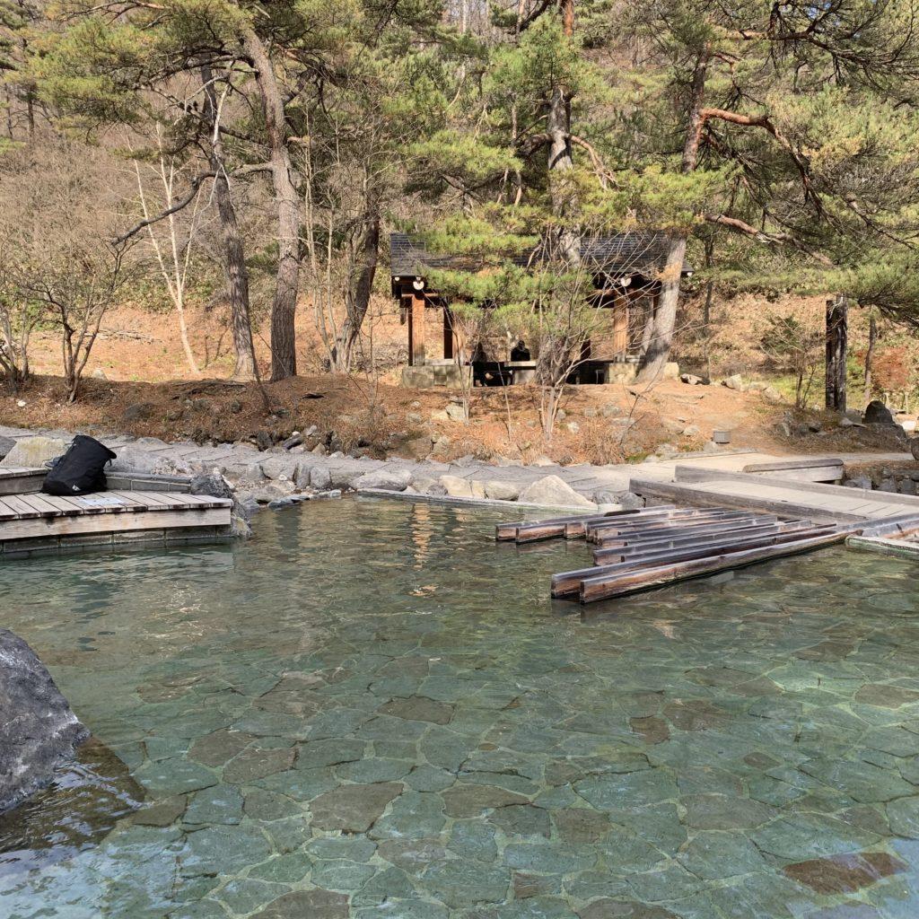 西の河原公園の足湯
