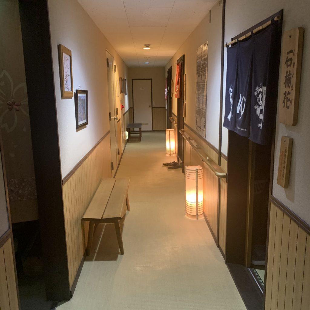 中村屋旅館の貸切風呂入口