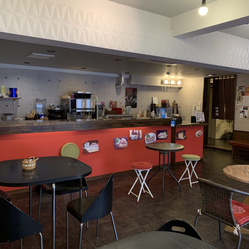 極楽館の一階カフェ